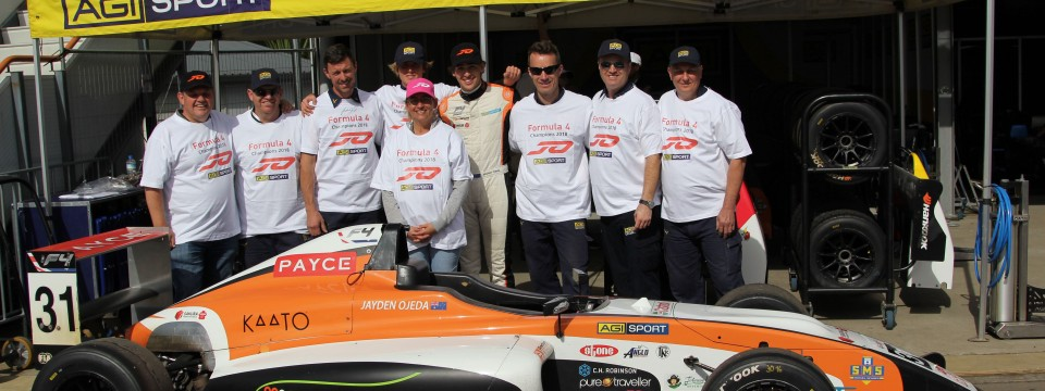PRESS RELEASE – Ojeda wins – AGI Sport claims back-to-back Formula 4 Championships